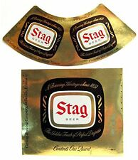 100 Old Carling Brewing Stag Beer Label Belleville Ill