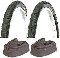 "2 X 26"" X 1.95"" Bike Cycle MTB Tyres With Inner Tubes Schrader Valve"