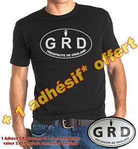 Tee-Shirt  GRD PRESIPAUTE DE GROLAND jules edouard moustic CANAL + en TAILLE  XL