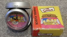 THE SIMPSONS TRAVEL CLOCK 2000 COLLECTABLE HOMER+BART+LISA+MARGE ARE WE THERE YT