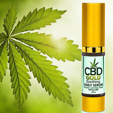 CBD GOLD Serum Hemp THC Free - Muscle Joint Pain Relief - Soothing Essential Oil