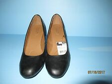 JACLYN SMITH EVERYDAY/CASUAL SHOES SIZE 7.5 WIDE WOMENS  (BLACK)