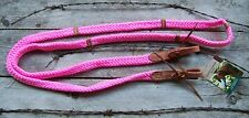 Reins - Quiet Control Single Roping Rein (Pink)