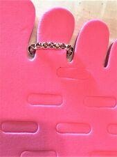 Purple Rhinestone Sp Brass Stretch Toe Ring #922