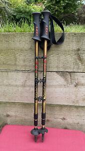 Pair Of Leki Makalu Classic Extending Trekking Walking Poles Sticks Hiking Pole