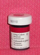 Burgandy 1 oz.Jar Gel Color,Wilton, 610-698.Food Coloring,Icing Color Paste