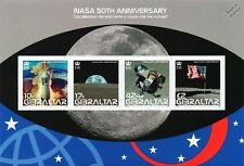 NASA 50th Anniversary/Moon Landings/USA Flag/Space Stamp Sheet (2008 Gibraltar)