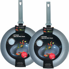 Russell Hobbs Stone Collection 28cm Frying Pan Twin Pack, Daybreak
