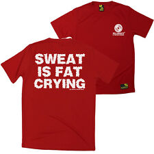 FB Gym Bodybuilding Tee Sweat Is Fat Crying Dry Fit Performance T-Shirt