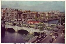 Continental-size O'CONNELL BRIDGE, RIVER LIFFEY AND BUS STATION, DUBLIN, IRELAND