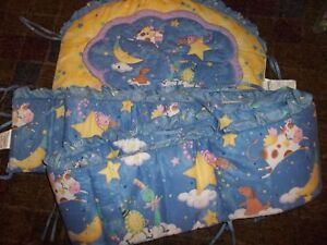 Kidsline Over the Moon Nursery Rhymes Cow Cat Crib Comforter & Bumper Pads Set