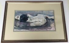Nude Framed Mixed Media Signed Art Work