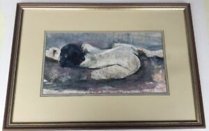 Nude Framed Mixed Media Signed Art Work