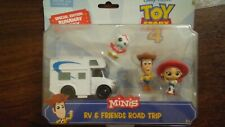 Disney Pixar Toy Story 4 Minis RV & Friends Road Trip Jessie Woody Forky Figures
