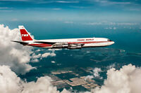 TRANS WORLD AIRLINES BOEING 707 IN FLIGHT 8x12 SILVER HALIDE PHOTO PRINT