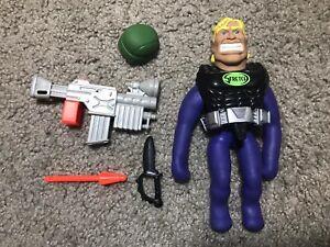 Vintage 1992 Cap Toys Dark Avenger Stretch Armstrong - Batman Style Figure RARE