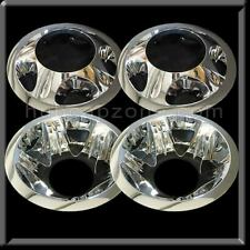 "GMC Sierra 3500 17"" Dually Chrome Wheel Simulators hubcaps Liners 2011-2019"