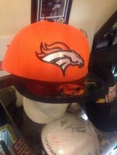 NWT New Era 59fifty 7 5/8 Denver Broncos ORANGE FITTED FLAT BILL Hat Cap