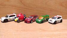 Hot Wheels bundle of 5 ~ Mini Cooper / Angry Bird / Subaru / Citroen Rally