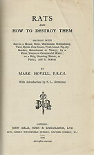 SCARCE RATS & HOW TO DESTROY THEM BY MARK HOVELL 1924 1ST EDITION
