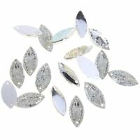 350× New Clear Plated Bottom Resin Flatback Horse Eye Faceted Sew-on Bottons LC