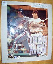 CAL RIPKEN  JR WITH CAL SR WATCHING ON ORIOLES CLASSIC COLOR photo 8 x10 !