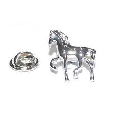 Prancing Horse Lapel Pin Badge BROOCH Jockey Pony Club Equine Present Gift Box