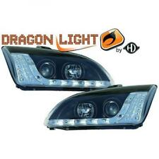 LHD Projector Headlights Pair LED Dragon Clear Black For Ford Focus II 04-07