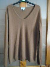 Tamaño 20 Pure Collection 100% cachemir Suéter Superior en marrón claro