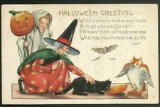 Vintage Embossed  Halloween Postcard