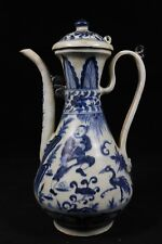 Beautiful chinese blue and white porcelain teapot