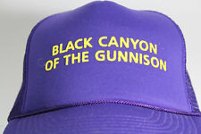 Vintage Black Canyon Of The Gunnison National Park PurpleTrucker Hat