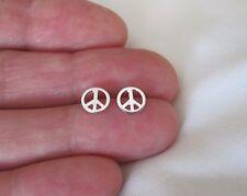 sign post stud earrings. Sterling Silver 7mm Peace