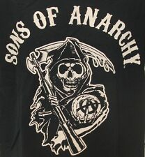 Sons of Anarchy Motorcycle Club Grim Reaper Death Scythe Crystal Ball T-Shirt L