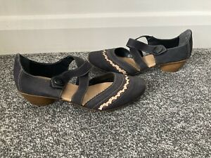 Reiker Antistress Mary Jane casual shoes Size UK 6 (39) Navy Blue Ex Cond