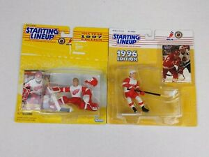 Starting Lineup Detroit Red Wings Fedorov, Osgood Lot of 2 Action Figures New
