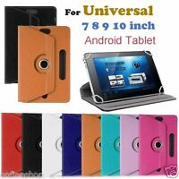 Universal Leather Flip Stand Case Cover Skin For 7、8、9、10 inch Android Tablet PC