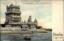 Belém Lissabon Lisboa Portugal Portuguesa 1905 Torre San Vincente Turm Festung