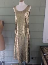 Vtg Halston Iii metallic rayon lame shirt top skirt set - small