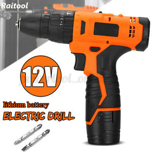 12V 22 Level Cordless Electric Drill Rechargeable Speeds LED Light 1.3Ah  {i*