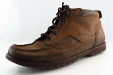 Rockport Men Size 10 Medium (D, M) Brown Leather Chukka Boots