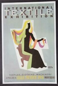 Paul Colin Textile Exhibition Vintage Poster Print Mounted Offset Litho 1977