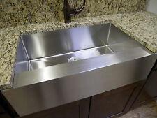 "30"" Stainless Steel Farmhouse Front Apron Single Bowl Kitchen Sink & Grid"