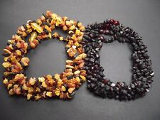 Lot 10 Natural Raw Baltic Amber Baby Necklace 12.20 - 13.00 inches
