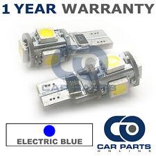2x Blu W5W 501 LATERALI TARGA INTERNO FRECCE 5 SMD LAMPADINE LED CANBUS