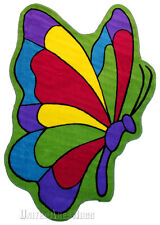 """3x5  Shaped  Butterfly  Rug Flight Beautiful Insect creature  3'3""""ft x 4'4""""ft"""