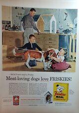 Lot of 3 Vintage Friskies Dog Food Ads Artwork by Douglass Crockwell