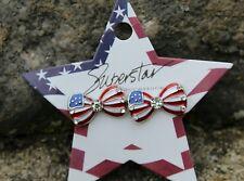 Amerca USA flag earrings