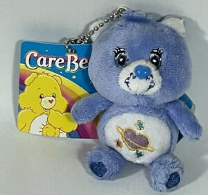 "NWT Care Bears 3"" Daydream Bear Plush Keychain 2009"