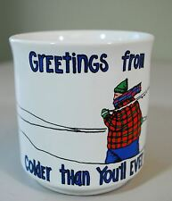 Greetings from Cold Weather Humor Coffee Mug - Recycled Paper Products Minnesota
